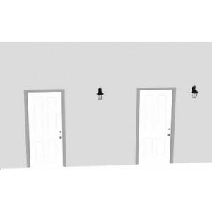 哭字门(一面墙上两个门并列)影响及化解方式